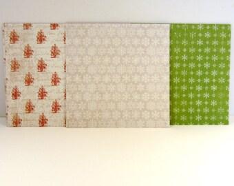 24 Double sided paper squares - Destash - Christmas