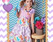 Girls Dress, Unicorn Dress, Birthday Dress, Rainbow Dress