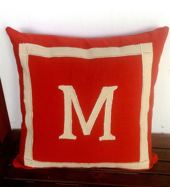 Rust/Burnt Orange Color Decorative Pillow Cover by Snazzyliving