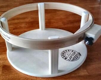 "Barnett's Laptop Hoop Frame for hand quilting.  14"" Round or 14"" Square Design"