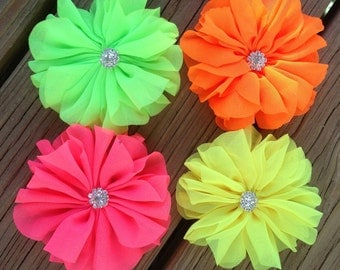 New-Flowers-NEON  with RHINESTONE Ballerina-3 1/2 inch-CHOOSE 3, 5, or 12
