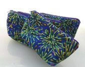 Purple Fireworks Zippered Pouch