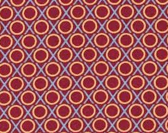 Anna Maria Horner - LouLouThi Hugs and Kisses in Wine  100% Quilters Cotton Available in Yards, Half Yards and Fat Quarters