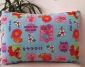 Abby Cadabby on Blue or Pink Back Ground- Elmo and Friends Toddler Pillow - Sesame Street Travel Pillow