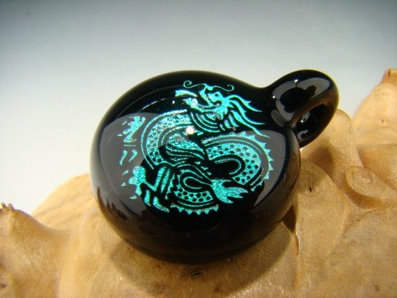 """RESERVED for Inma Dichroic GLASS """" Year of the Dragon """"  Pendant Focal Bead Boro Lampwork VGW ready to ship"""