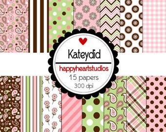 Digital Scrapbooking KateyDid-INSTANT DOWNLOAD