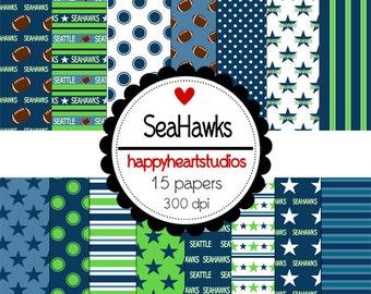 Digital Scrapbook  SeattleSeahawks-INSTANT DOWNLOAD