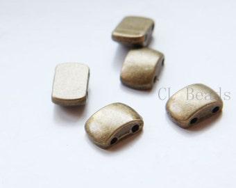 12pcs Antique Brass Tone Base Metal 2 Hole Spacers-14x9x5mm (8659Y-E-523)