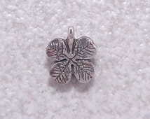 Green Girl Studios Sterling Silver 4 Leaf Clover Lucky charm