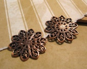 Filigree Daisy Connectors from Trinity Brass in Antique Copper - 2 Count