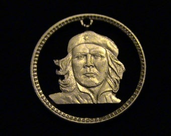 Cut Coin Pendant - w Ernesto Che Guevara