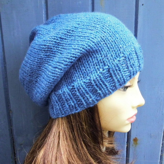 KNITTING PATTERN/CHARLEY Womans Slouchy Beanie Pattern Easy