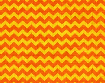 Clearance FABRIC distressed ORANGE Scary CHEVRON for Fall Halloween Thanksgiving  1/2 Yard