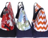 Custom Large Insulated Lunch Bag Tote Zip Adult Lunch Bag Choose your Fabrics Lunch Bag Made to order by BonTons