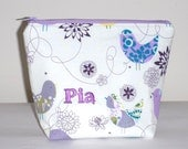 Custom Personalised Insulated Lunch Bag Little Make up bag Zip Cosmetic by BonTons on Etsy