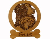Austrailian Shepherd Head Ornament 081398  Personalized With Your Dog's Name
