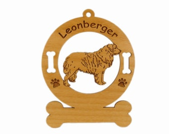 3496 Leonberger Standing Personalized Dog Ornament