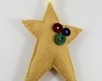 DIY Homespun Star Christmas Ornament KIT