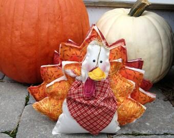 Stuart the Little Turkey Handmade Thanksgiving Decoration Centerpiece