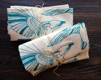 Fly Away Sparrows Flour Sack Tea Towels - Set of 2