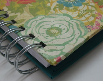 Daily Gratitude/ Mini Journal/ Gratitude Journal/ Pocket Size/ Grateful Journal/ Thankful Journal/ Year Journal/ 1 year/ Floral Turquoise