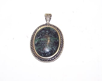 Solid Copper Natural RUBY ZOISITE Gemstone Pendant Now 50% Off