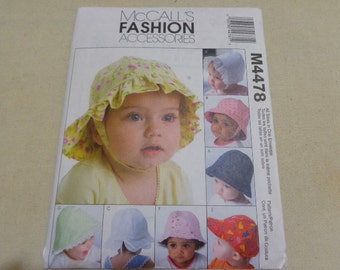 McCall's 4478 infants' hats pattern