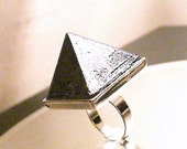 NEW SupHerOrgone Black Tourmaline Orgone Pyramid Ring or Necklace- AKA Reiki Healer