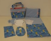 Cinderella Diaper Bag and Diapers with Blanket for Bitty Baby