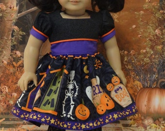 Trick or Treat - vintage style dress for American Girl doll