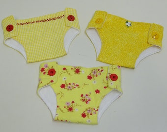 Bitty Baby Cloth Diapers, set of three- Chinese Blossoms