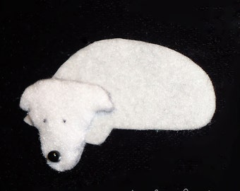 JACK RUSSELL TERRIER Felt Dog Shape for Bead Embroidery, Making Beaded Animals, Beading, Crafting, or Embellishment