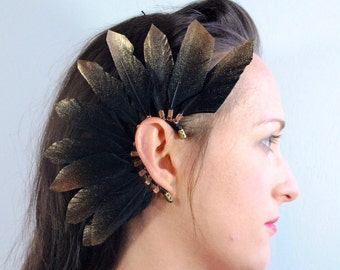 Black Duck Feather Ear Cuff
