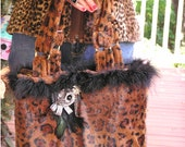 A Touch of Class - Luxurious Purse in a Wild Animal Print Faux Fur