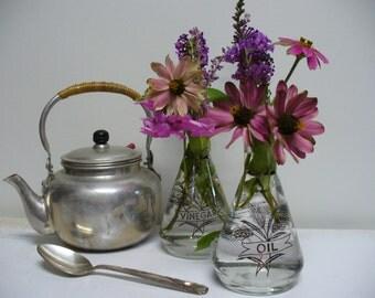 Mid Century Oil and Vinegar Glass Bottles