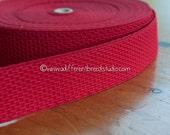3 yards Geometric Belting- Vintage Trim Juvenile 70s 80s New Old Stock Bold Red Stretch Elastic