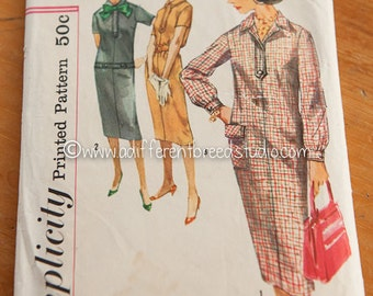 Simplicity Vintage Pattern - Bust 34 Sz 14 Chemise Dress Complete 1960's