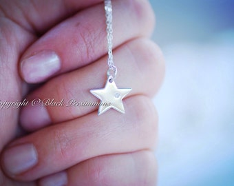 My Sun and Stars Necklace - Sterling Silver Shinning Star with Genuine 1 Point Diamond Charm Pendant - Insurance Included