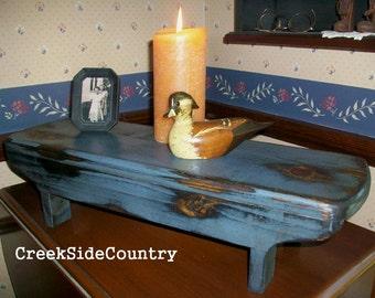 Primitive Wood TABLE  RISER  Bench