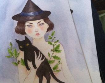 Postcard - Witch