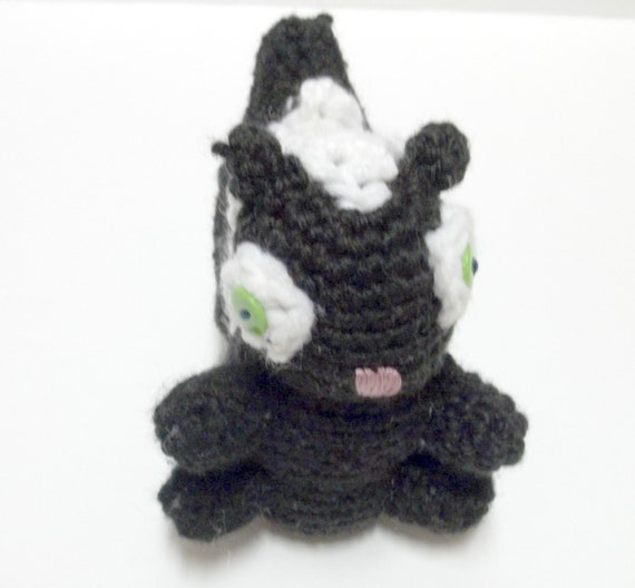 Skunk Softie - Forest Woodland Animal - Black and White - Crochet Toy - Stuffed Animal