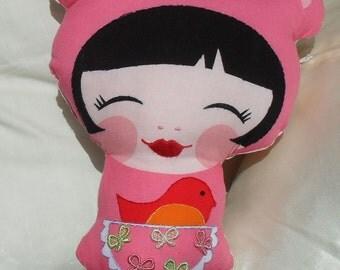 Sew Sunshine -Pillow doll- Nikki-handmade