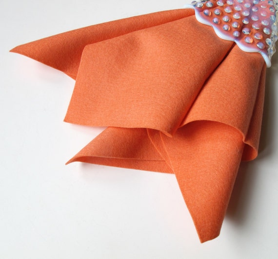 Coral Wool Felt, Choose Size, Large Felt Sheet, Felt Square, Pure Merino Wool, Nonwoven Fabric