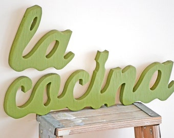 Spanish Kitchen Art Decor Sign La Cocina Sign Kitchen Sign