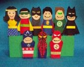 Super Heroes Felt Finger Puppets