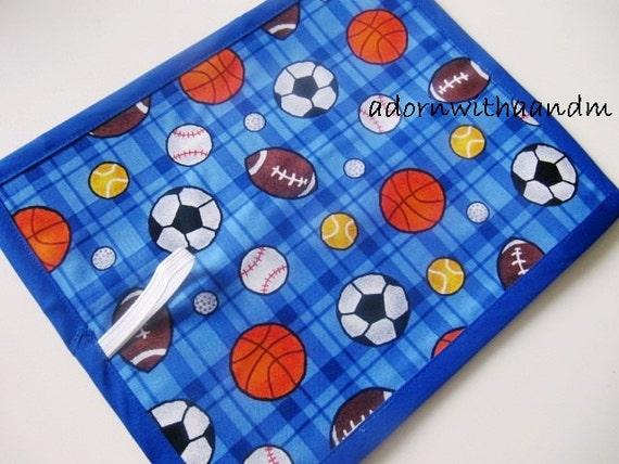 Chalkimamy Sports balls TRAVEL chalkboard mat, placemat (a)