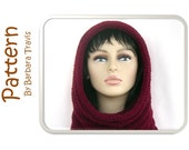 Knitting Pattern Snood Hood Beehive