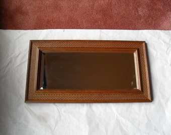 Rectangle Beveled Mirror Wood
