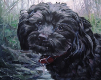 """BonnieLass, custom pet portrait oil paintings by puci, 10x12"""""""