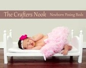 Small Traditional Newborn Photo Prop Baby Doll Bed and Foam Mattress - DIY Photography Portraits